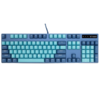 RAPOO 雷柏 V500PRO 104键 有线机械键盘 青花蓝 雷柏茶轴 单光