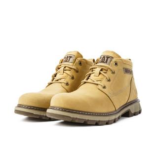 CAT 卡特彼勒 舒适出行男鞋 低帮牛皮户外休闲防滑耐磨马丁靴工装靴鞋子男 P723788J3UDC25 黄色 40
