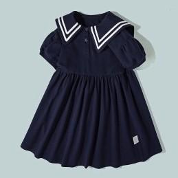 Mini Balabala 女童学院风连衣裙  宝蓝8704 100cm