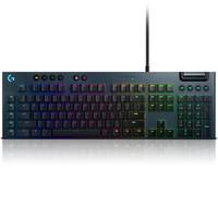 logitech 罗技 G813 112键 有线机械键盘 黑色 GL C机械轴 RGB