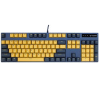 RAPOO 雷柏 V500PRO黄蓝版 机械键盘 PBT键帽 黑轴 104键