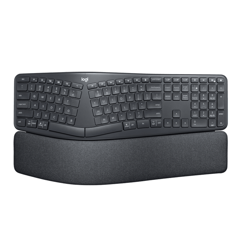 logitech 罗技 ERGO K860 108键 多模无线薄膜键盘 黑色