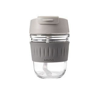 MINISO 名创优品 一盖两用吸管杯 350ml