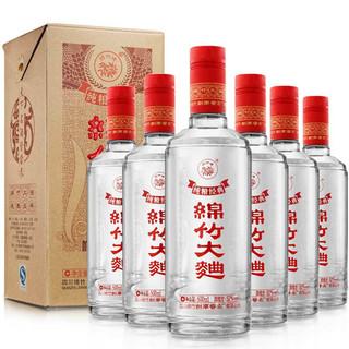 剑南春 绵竹 绵竹大曲 纯粮经典 52%vol 浓香型白酒 500ml*6瓶 整箱装