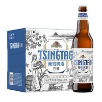 TSINGTAO 青岛啤酒 全麦白啤(2020版) 10度 500ml*12瓶