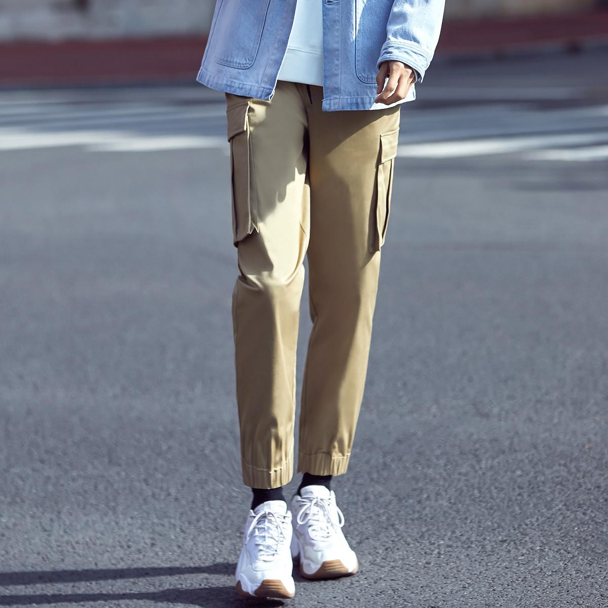 ME&CITY 547M10399C107 男士束脚工装裤