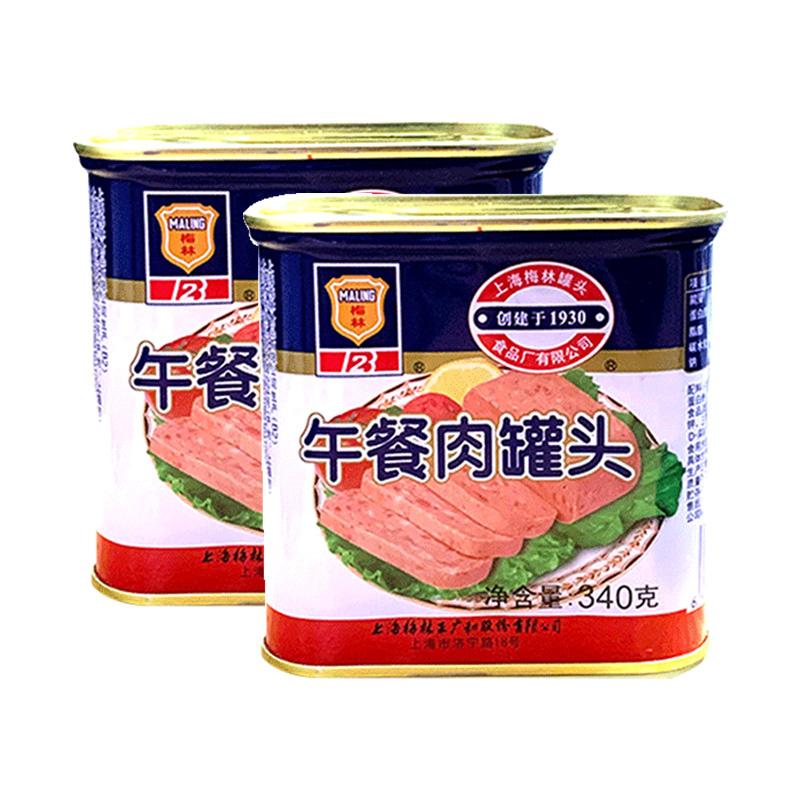 MALING 梅林 maling上海梅林午餐肉罐头340g火锅猪肉熟速即食制品速食食品
