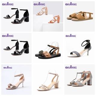 exull 依思Q 凉鞋女夏一字带凉鞋女仙女风百搭优雅细跟高跟鞋