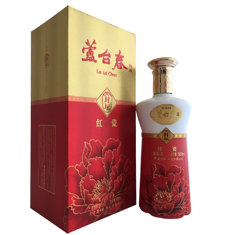 lutaichun 芦台春 封坛红瓷 38%vol 浓香型白酒 500ml 单瓶装