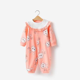 YISHUANGER 宜爽儿 春夏婴儿哈衣秋装新生儿衣服幼儿长袖爬服女童宝宝连体衣