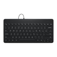 B.O.W 航世 K-610U 89键 有线薄膜键盘 黑色 无光