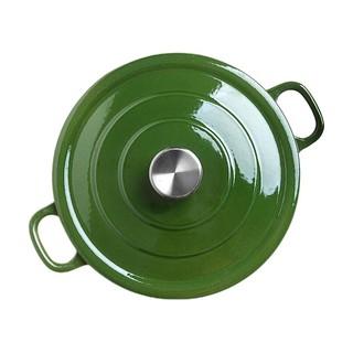 J.ZAO 京东京造 铸铁珐琅锅 24cm 橄榄绿