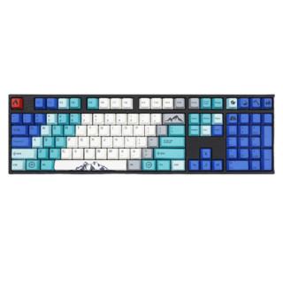 Varmilo 阿米洛  山巅 108键 有线机械键盘 蓝白 Cherry茶轴 单光