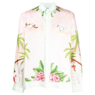 Casablanca paris 男士LOGO印花衬衫 16401227