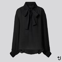 UNIQLO 优衣库 +J合作系列 436192 真丝打褶衬衫