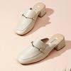 Teenmix 天美意 CAD44BH0 方跟穆勒拖鞋