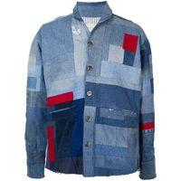GREG LAUREN 男士补丁设计牛仔夹克