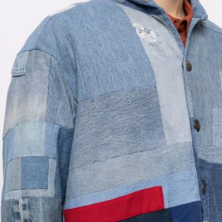 GREG LAUREN 男士补丁设计牛仔夹克 16357721