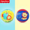 费雪 小皮球拍拍球儿童篮球幼儿园玩具婴儿宝宝3号5号足球弹力玩具 3号篮球(蓝色趴趴狮)