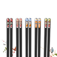 Suncha 双枪 DK50501 合金筷子 猫咪款 5双