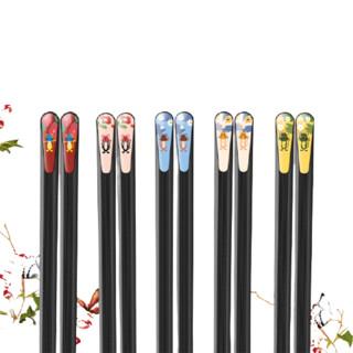 Suncha 双枪 合金筷子 小鼠款 6双