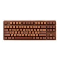 AJAZZ 黑爵  Chocolate Cubes 87键 巧克力色机械键盘 粉轴