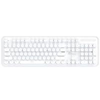 ROYAL KLUDGE  RK960 104键 蓝牙无线机械键盘 圆键帽 白色 国产青轴 单光