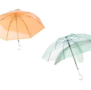 BANANA UNDER 蕉下 透彩系列 BU9087 8骨睛雨伞 2把装 画册橘+草青绿