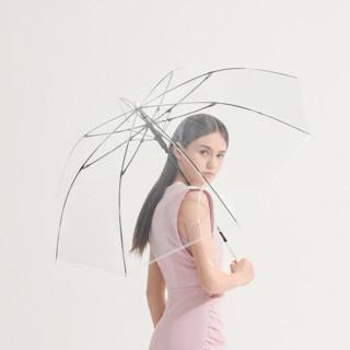 BANANA UNDER 蕉下 透彩系列 BU9087 8骨睛雨伞 2把装 透明色+冰粉色