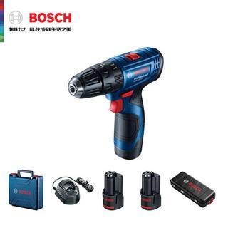 BOSCH 博世 ()GSB 120 12V充电式手电钻电动螺丝刀家用多功能锂电冲击钻(2A双电)+小黑盒78附件工具箱套装