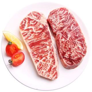 元盛 西冷雪花牛排1.5kg/10连包(750g*2盒 内含酱包)整切静腌牛扒 牛肉生鲜