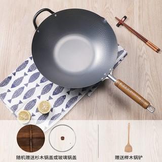 有券的上 : KANDA 神田 槌目纹炒锅 33cm(含锅盖+专用铲)