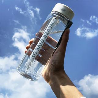 FIND YOU 一眼万年 健身运动水杯子塑料男女学生太空便携大容量简约清新森系防摔水瓶