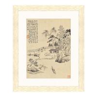雅昌 华嵒《赴饮图》44×36cm 装饰画 宣纸