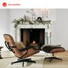 Herman Miller赫曼米勒Eames躺椅午休椅小沙发含脚凳 胡桃木