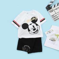 Disney baby 男童纯棉短袖短款套装