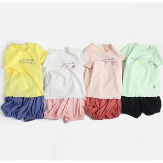 Miiow 猫人  女童短袖家居服套装