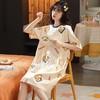 胭脂楼兰 11627 女士纯棉短袖睡裙