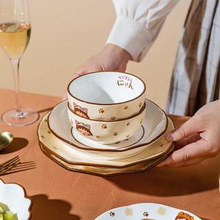 摩登主妇 樱桃小丸子联名 萌宠系列 TM20M08-47 陶瓷餐具 18件套