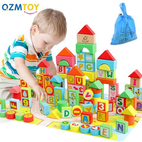 巧之木 婴儿童拼装木质玩具(100粒+60片拼图)袋装