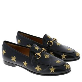 GUCCI 古驰 蜜蜂星星黑色乐福鞋