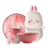 KAWASIMAYA 川岛屋 pz-220 陶瓷餐具 5件套 兔子
