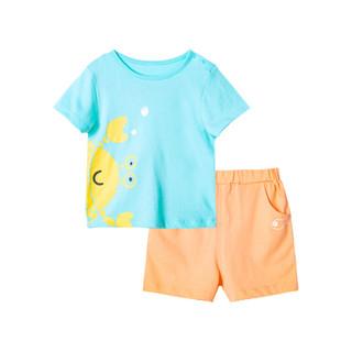 Bornbay 贝贝怡 童装夏季新品新款男童套装婴幼套装儿童衣服婴儿短袖套装