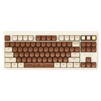 iKBC 歌帝梵联名款 87键 2.4G蓝牙 双模无线机械键盘 巧克力 ttc茶轴 无光