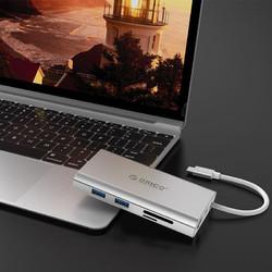 ORICO 奥睿科 ADS3 八合一扩展坞(千兆网口、PD、HDMI、VGA、USB3.0、读卡槽)