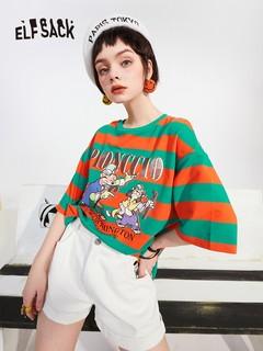 elf sack 妖精的口袋 × 匹诺曹合作系列 女士短袖T恤 1110_AL5126