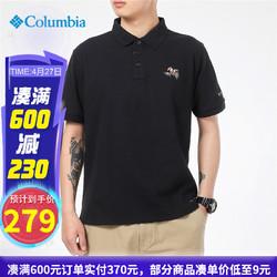 Columbia 哥伦比亚 Columbia哥伦比亚POLO衫男士2021春夏季新款运动休闲舒适时尚透气短袖T恤上衣AE3150