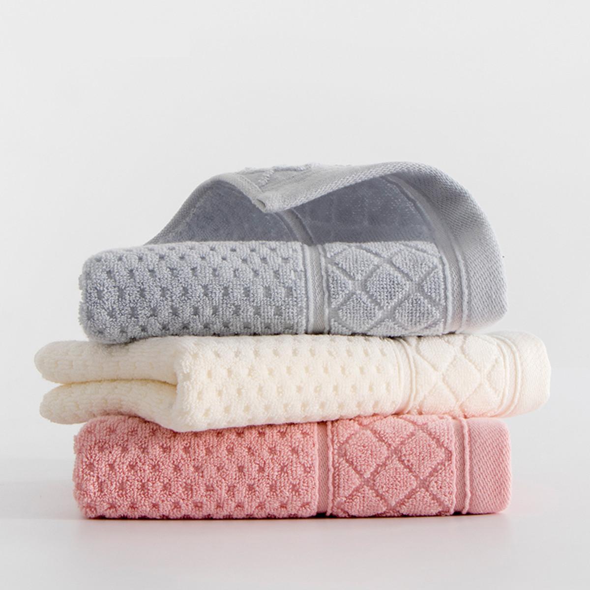 3条装纯棉加厚全棉洗脸家用成人儿童吸水男女情侣大毛巾面巾