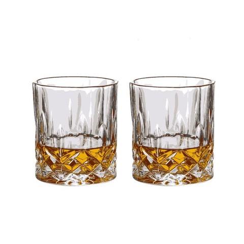 SURANER 舒拉娜 锤纹旋转不倒翁玻璃杯ins风家用透明牛奶喝水杯啤酒杯 威士忌酒杯