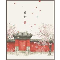 Jia Cai Tian Yian 佳彩天颜 中国风数字油画 40*50cm 黑白板